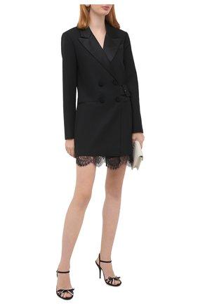 Женские текстильные босоножки keira DOLCE & GABBANA черного цвета, арт. CR1131/A0035   Фото 2
