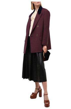 Женский шерстяной жакет FENDI бордового цвета, арт. FJ7092 AC6R | Фото 2