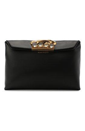 Женский клатч jewelled satchel ALEXANDER MCQUEEN черного цвета, арт. 631865/CSRWT | Фото 1