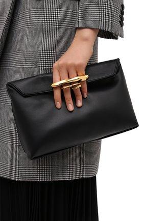 Женский клатч jewelled satchel ALEXANDER MCQUEEN черного цвета, арт. 631865/CSRWT | Фото 2