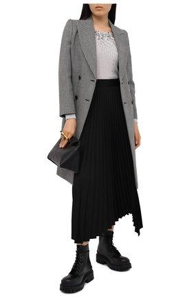 Женская пуловер из вискозы VALENTINO серебряного цвета, арт. UB3KC17C5SM   Фото 2