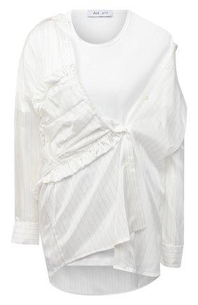 Женская рубашка из вискозы ACT N1 белого цвета, арт. PFT2010 | Фото 1