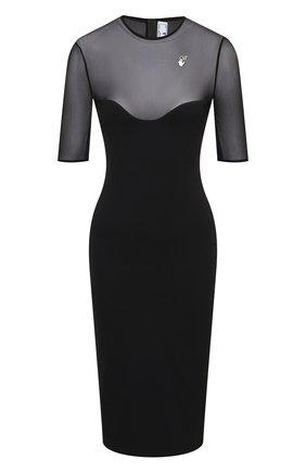 Женское платье OFF-WHITE черного цвета, арт. 0WVT006E20JER0011001 | Фото 1