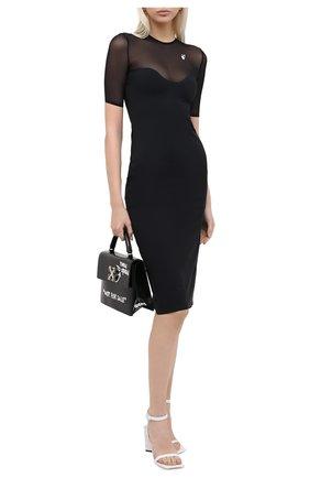 Женское платье OFF-WHITE черного цвета, арт. 0WVT006E20JER0011001 | Фото 2