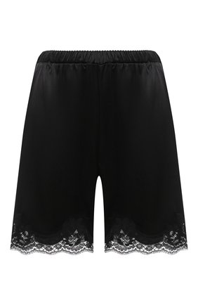 Женские шорты из шелка и хлопка DOLCE & GABBANA черного цвета, арт. 03A30T/FUAD8 | Фото 1