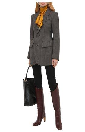 Женский шерстяной жакет BALENCIAGA коричневого цвета, арт. 571278/TAT10 | Фото 2