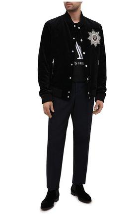 Мужские текстильные челси GIORGIO ARMANI черного цвета, арт. X2M253/XD167 | Фото 2
