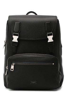 Мужской кожаный рюкзак palermo DOLCE & GABBANA черного цвета, арт. BM1844/AZ319 | Фото 1