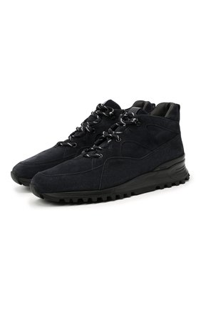Мужские замшевые ботинки TOD'S темно-синего цвета, арт. XXM98B0BZ10MJH | Фото 1