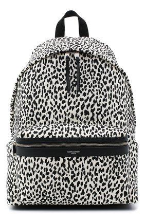 Мужской текстильный рюкзак city SAINT LAURENT черно-белого цвета, арт. 534967/2E81F | Фото 1