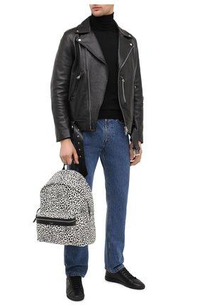 Мужской текстильный рюкзак city SAINT LAURENT черно-белого цвета, арт. 534967/2E81F | Фото 2