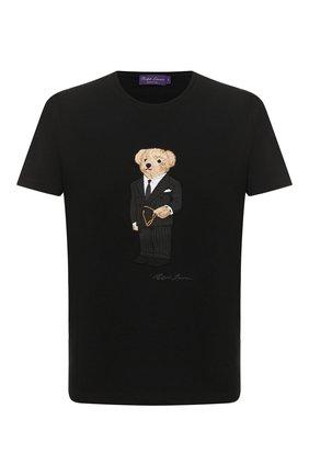 Мужская хлопковая футболка RALPH LAUREN черного цвета, арт. 790822865 | Фото 1