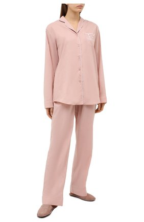 Женская хлопковая пижама NATAYAKIM бежевого цвета, арт. NY-025BW | Фото 1