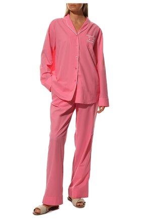 Женская хлопковая пижама NATAYAKIM розового цвета, арт. NY-025BW | Фото 2