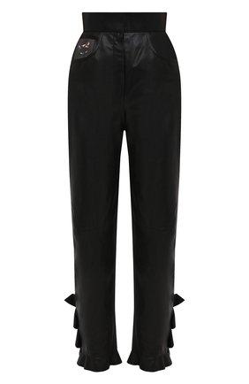Женские кожаные брюки ULYANA SERGEENKO черного цвета, арт. PNT001SS20P  (0821т20) | Фото 1