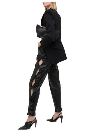 Женские кожаные брюки ULYANA SERGEENKO черного цвета, арт. PNT001SS20P  (0821т20) | Фото 2
