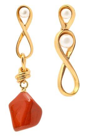 Женские серьги OSCAR DE LA RENTA золотого цвета, арт. P20J129G0L | Фото 1