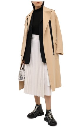 Женская юбка MONCLER белого цвета, арт. F2-093-2D718-10-C0382 | Фото 2