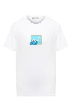 Женская хлопковая футболка MONCLER белого цвета, арт. F2-093-8C781-10-V8181 | Фото 1