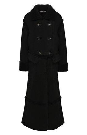 Женская дубленка TOM FORD черного цвета, арт. CPF693-FUX143 | Фото 1