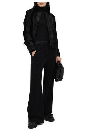 Женские брюки из хлопка и шерсти ANN DEMEULEMEESTER черного цвета, арт. 2002-1416-P-165-099 | Фото 2