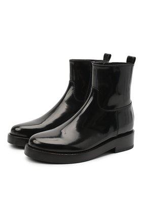 Женские кожаные ботинки ANN DEMEULEMEESTER черного цвета, арт. 2002-2812-P-386-099 | Фото 1