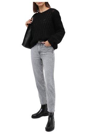 Женские кожаные ботинки ANN DEMEULEMEESTER черного цвета, арт. 2002-2812-P-386-099 | Фото 2