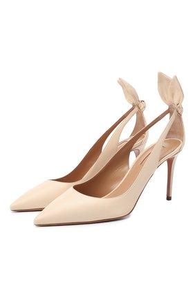 Женские кожаные туфли deneuve 85 AQUAZZURA кремвого цвета, арт. DENMIDP0-NAP-CRM | Фото 1