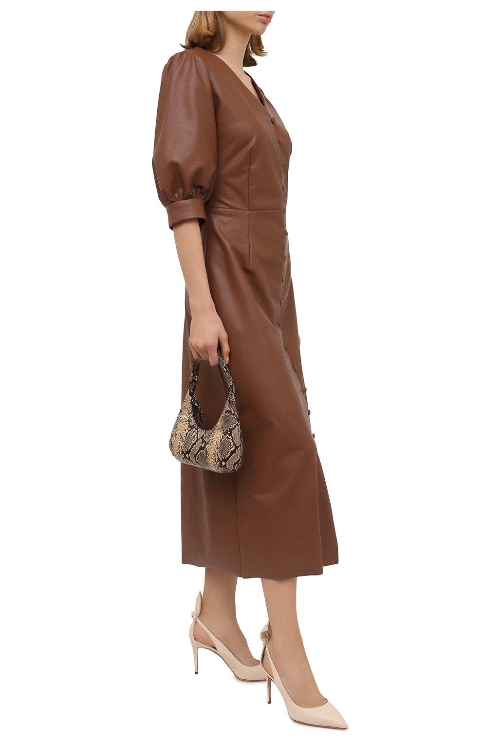 Женские кожаные туфли deneuve 85 AQUAZZURA кремвого цвета, арт. DENMIDP0-NAP-CRM | Фото 2