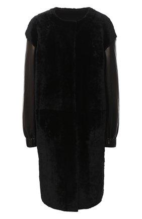 Женская шуба из овчины DROME черного цвета, арт. DPD5769/D1993 | Фото 1