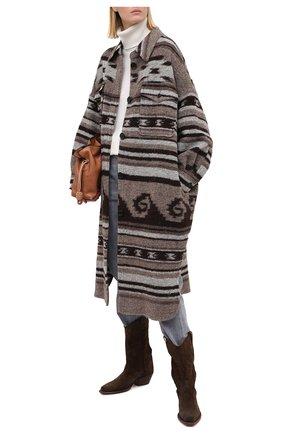 Женское пальто ISABEL MARANT ETOILE бежевого цвета, арт. MA0572-20A064E/GABRI0N | Фото 2