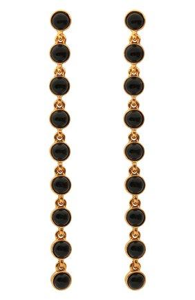 Женские серьги OSCAR DE LA RENTA черного цвета, арт. P20J127B0X | Фото 1