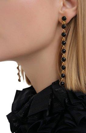 Женские серьги OSCAR DE LA RENTA черного цвета, арт. P20J127B0X | Фото 2