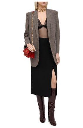Женское боди SAINT LAURENT черного цвета, арт. 635835/Y4B30 | Фото 2