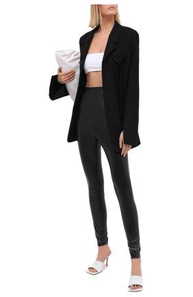 Женские леггинсы SAINT LAURENT черного цвета, арт. 632981/Y7B07   Фото 2