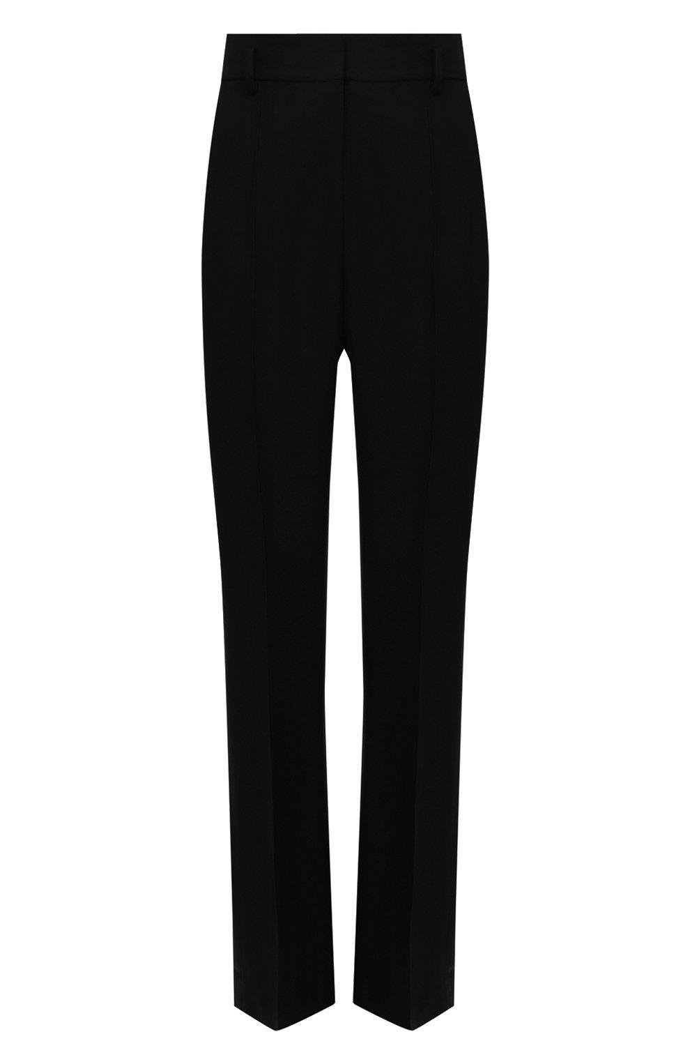 Женские брюки из шелка и шерсти PETAR PETROV черного цвета, арт. HARSH F20H8   Фото 1