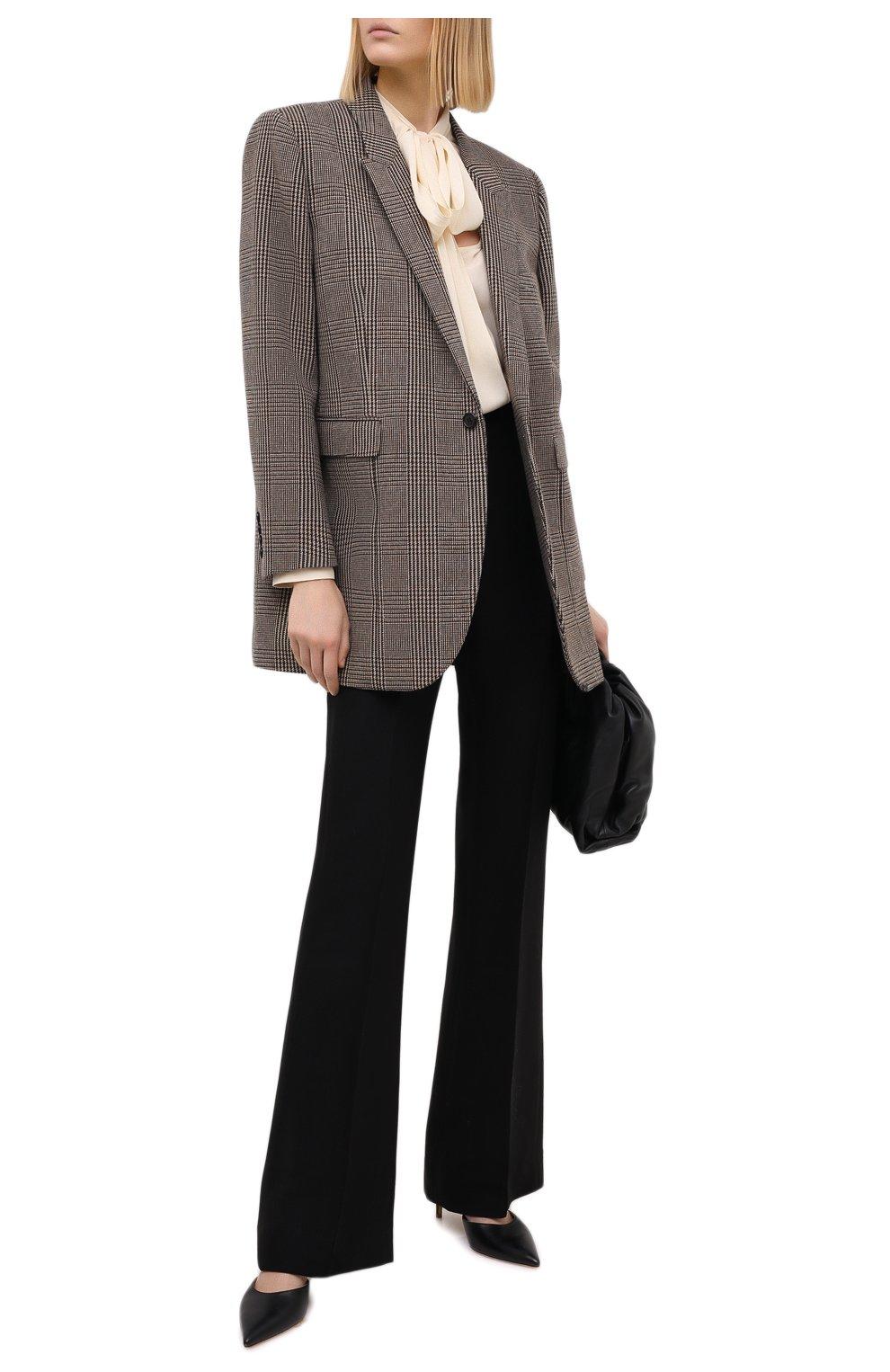 Женские брюки из шелка и шерсти PETAR PETROV черного цвета, арт. HARSH F20H8   Фото 2