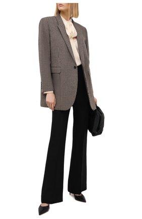 Женские брюки из шелка и шерсти PETAR PETROV черного цвета, арт. HARSH F20H8 | Фото 2