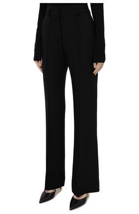 Женские брюки из шелка и шерсти PETAR PETROV черного цвета, арт. HARSH F20H8   Фото 3
