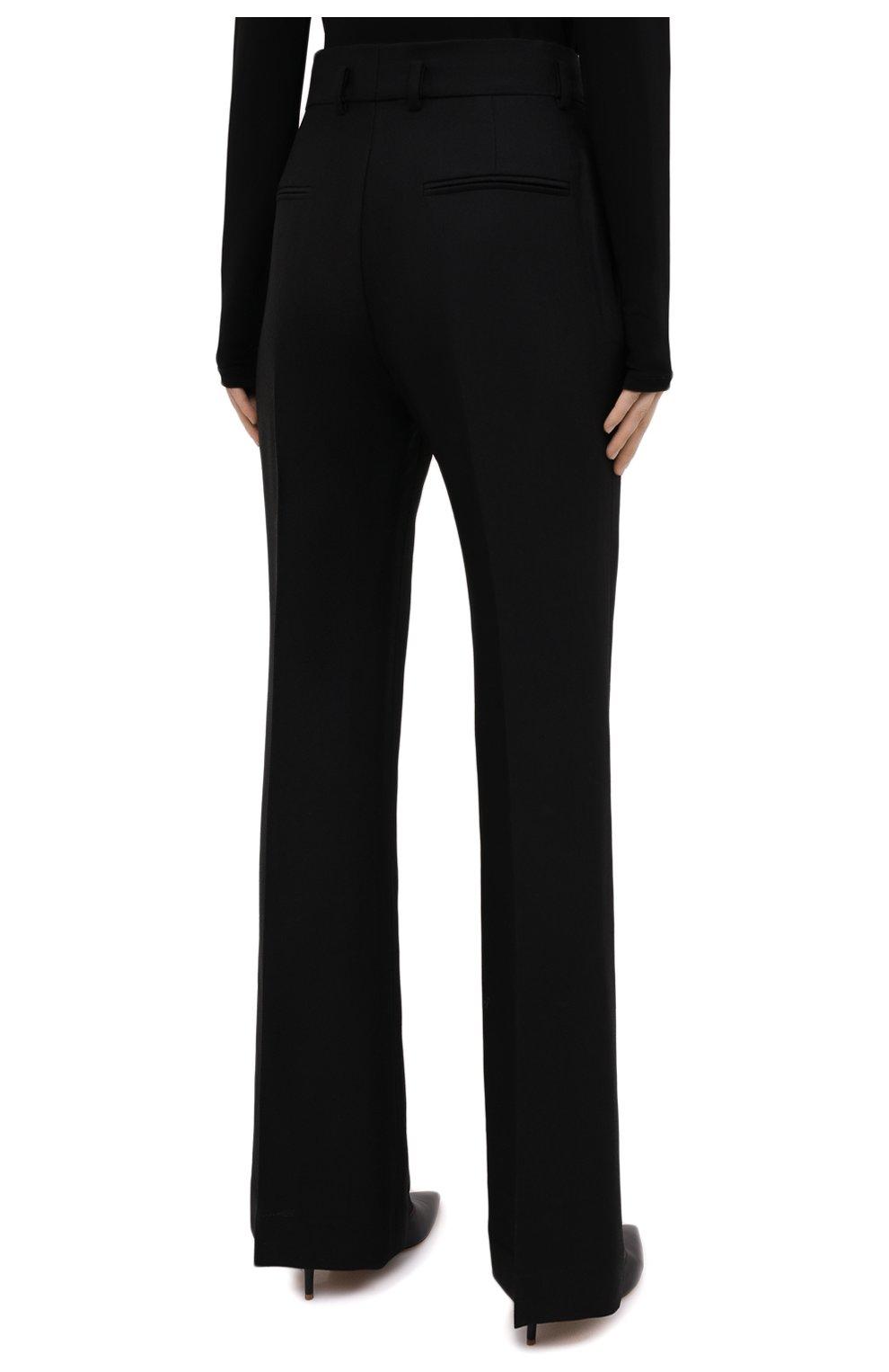 Женские брюки из шелка и шерсти PETAR PETROV черного цвета, арт. HARSH F20H8   Фото 4