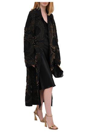Женские кожаные босоножки maudi GIANVITO ROSSI золотого цвета, арт. G31826.15RIC.METMEK0   Фото 2