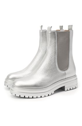Женские кожаные ботинки chester GIANVITO ROSSI серебряного цвета, арт. G73462.20G0M.BXSARGE | Фото 1