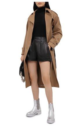 Женские кожаные ботинки chester GIANVITO ROSSI серебряного цвета, арт. G73462.20G0M.BXSARGE | Фото 2