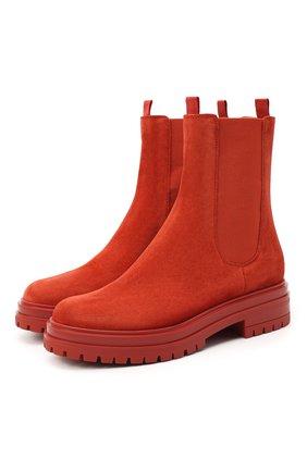 Женские замшевые ботинки chester GIANVITO ROSSI красного цвета, арт. G73462.20G0M.SUEINDX | Фото 1