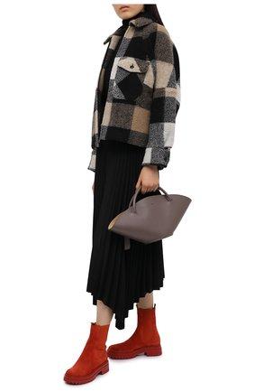 Женские замшевые ботинки chester GIANVITO ROSSI красного цвета, арт. G73462.20G0M.SUEINDX | Фото 2