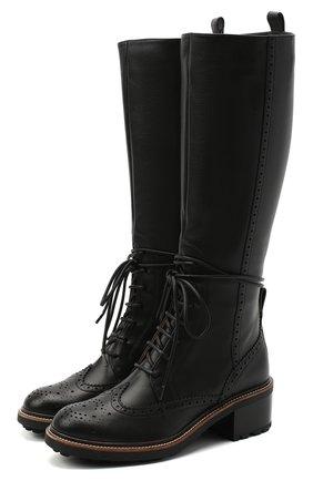 Женские кожаные сапоги CHLOÉ черного цвета, арт. CHC20W377P0 | Фото 1