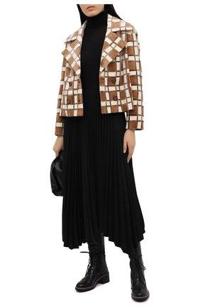 Женские кожаные сапоги CHLOÉ черного цвета, арт. CHC20W377P0 | Фото 2