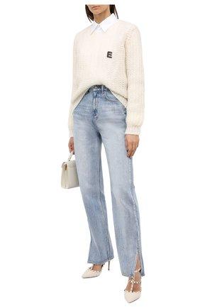 Женские комбинированные туфли rockstud VALENTINO кремвого цвета, арт. UW0S0393/BHJ | Фото 2