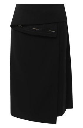 Женская шелковая юбка BURBERRY черного цвета, арт. 4567056 | Фото 1