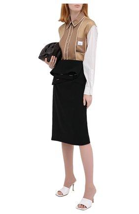 Женская шелковая юбка BURBERRY черного цвета, арт. 4567056 | Фото 2